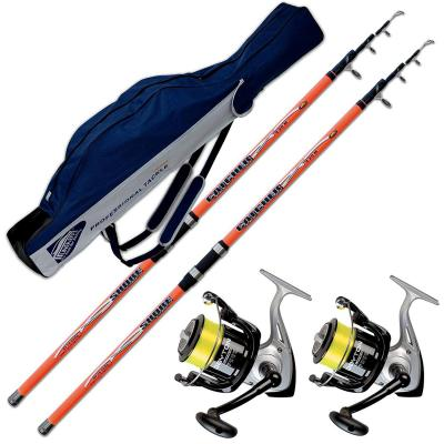 Evo Fishing Kit Surfcasating 2 Canne Catcher 420 Cm 200 Gr + 2 Mulinelli Trabucco