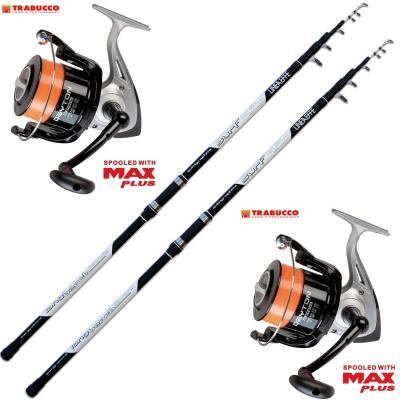 Evo Fishing Kit Pesca 2 Canne Surf + 2 Mulinello Trabucco