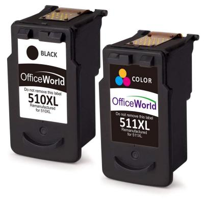 OfficeWorld PG-510XL CL-511XL Remanufactured Cartucce Canon PG-510 CL-511